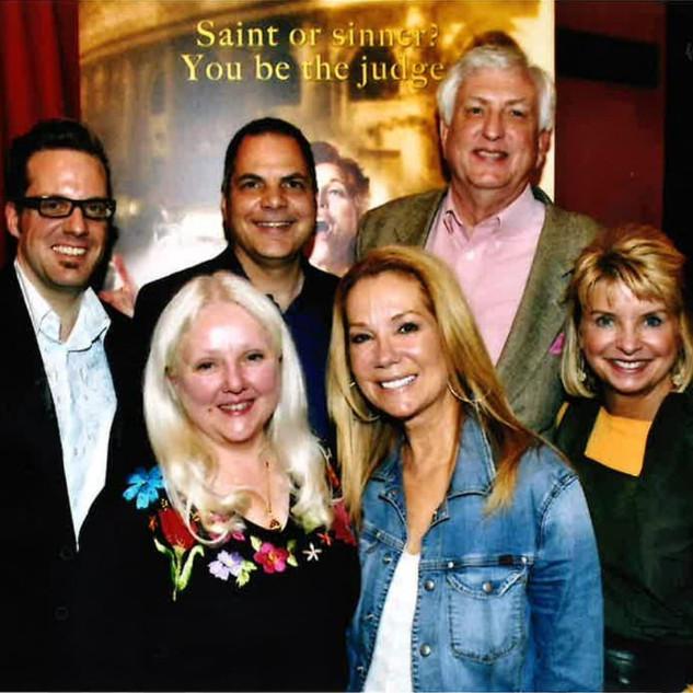 David with Kathie Lee Gifford, Bill Berry, Bernie Griffin, Tia Mai, and Bob Braun at Saving Aimee