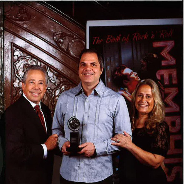David with Kenny and Marleen Alhadeff and Memphis - The Musical Tony Award