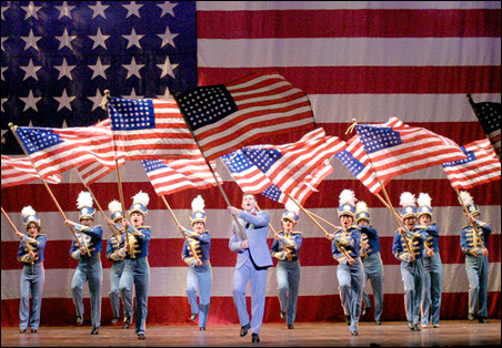 Act one finale of the musical Yankee Doodle Dandy! book by David Armstrong at The 5th Avenue Theatre