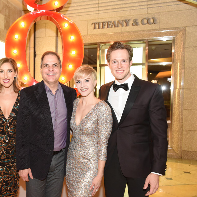 David Armstrong with Eric Ankrim, Sarah Davis, Taryn Darr and Matt Owen at opeining of HOLIDAY INN The Musical at The 5th Avenue Theatre