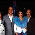 David with Broadway producer Margo Lion, Marilynn Sheldon and Bruce Pymm at the Broadway opening of HAIRSPRAY The Musical