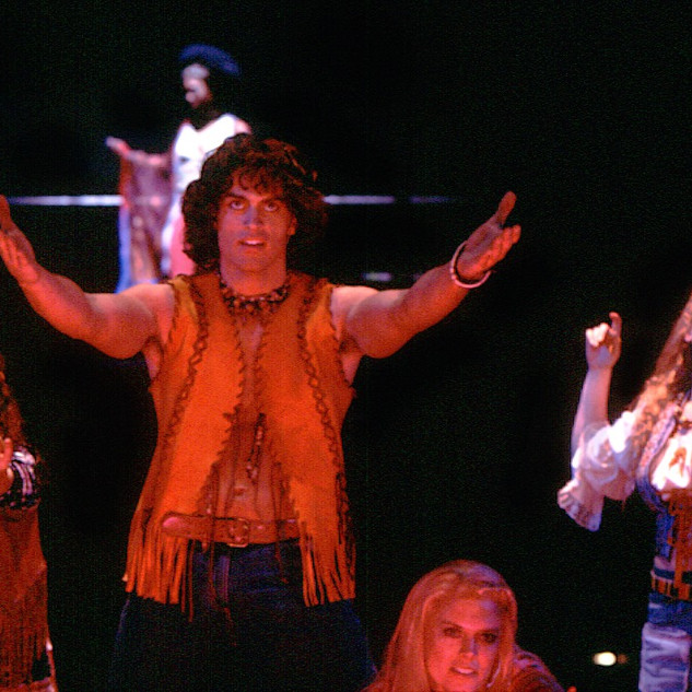 Cheyenne Jackson in HAIR at The 5th Avenue Theatre directed by David Armstrong
