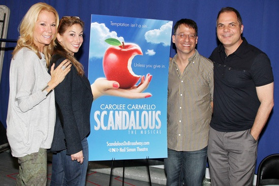 Kathie Lee Gifford, Carolee Carmello, Joel Fram and David Armstrong at SCANDALOUS the Musical press event