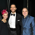 David Armstrong with Cheyenne Jackson, Bill Berry and Bernie Griffin at the 5th Avenue theatre Gala