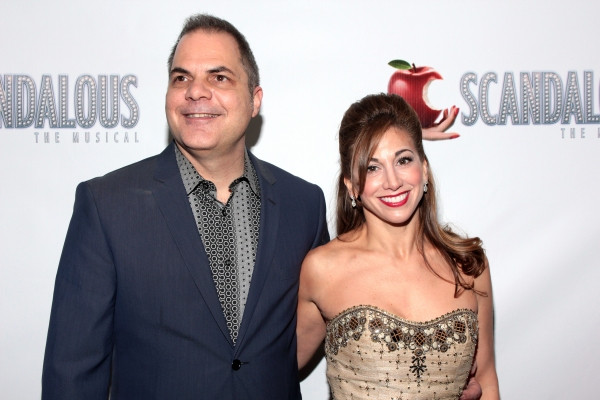 Director David Armstrong with choreographer Lorin Laterro at the Opening Nightof Scandalous - The Musical  on Broadway