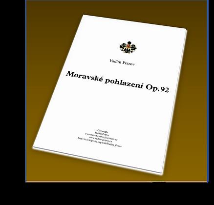 Moravské pohlazení Op. 92