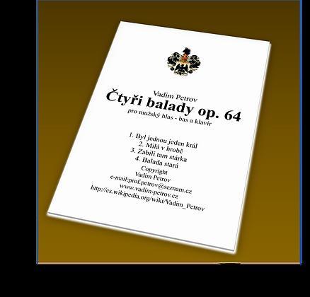 Čtyři balady Op. 64 (česky)