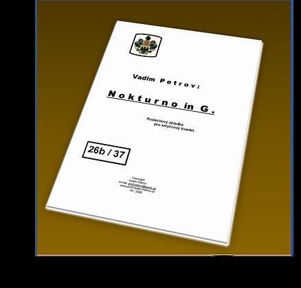 Nokturno in G Op. 60 - smyčcový kvartet