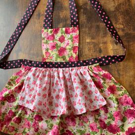 mostly pink layered apron