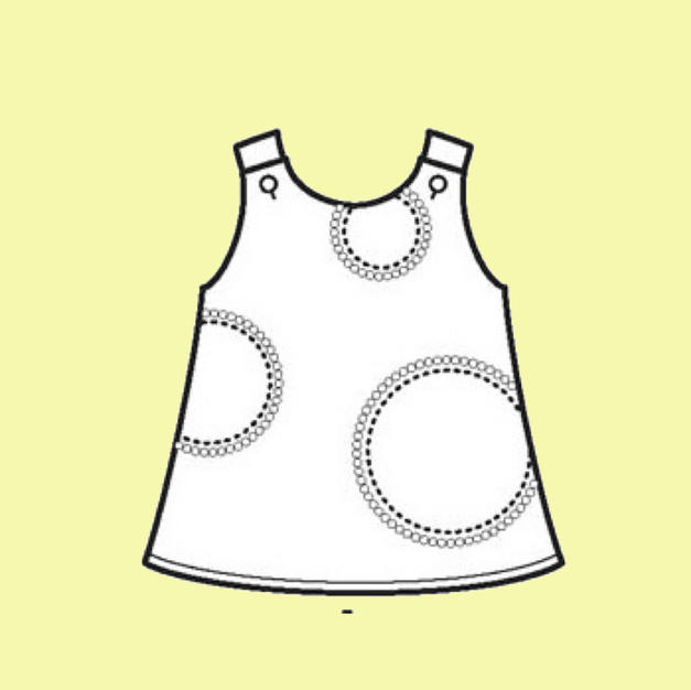 Pinafore with applique
