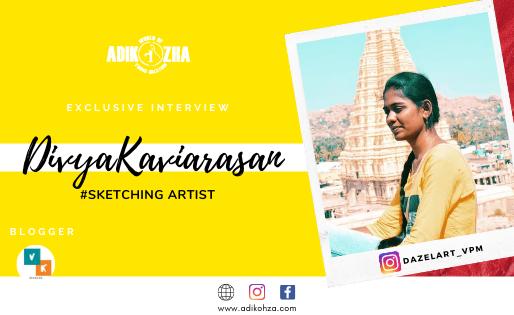 Divya Kaviyarasan the Sketching artist