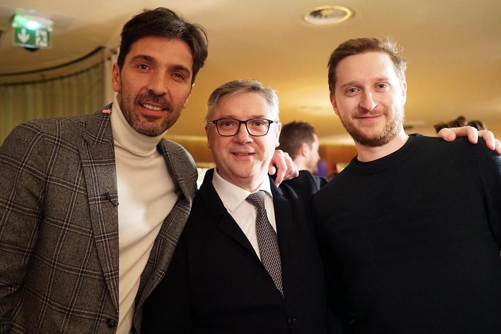 Gianluigi Buffon avec Massimo et Matthieu Mori