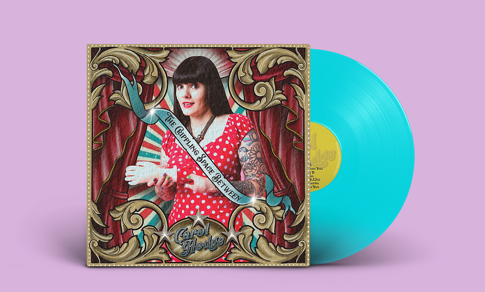 """The Crippling Space Between - TURQUOISE 12"""" Vinyl  (plus DL)"""