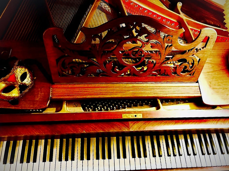 Piano of the bed and breakfast La Marquise de Bassano