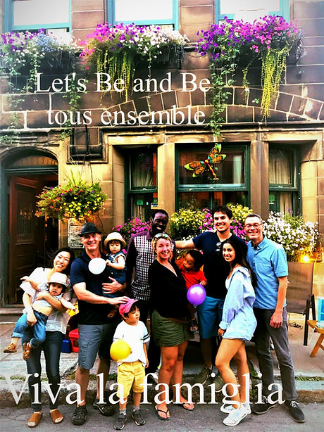photo of happy guests in front of the house B&B La Marquise de Bassano