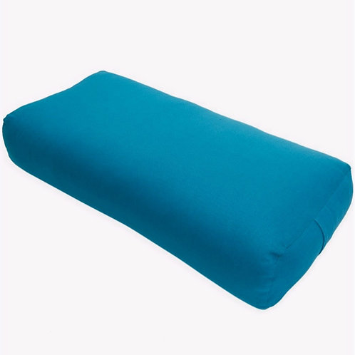 Barefoot Yoga Rectangular Bolster - (Teal) - Used Studio Equipment
