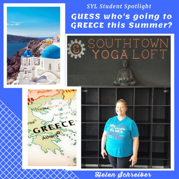 Student Spotlight - Helen going to Greece!