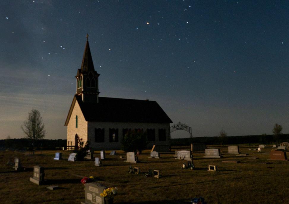 Rock Church in the Moonlight