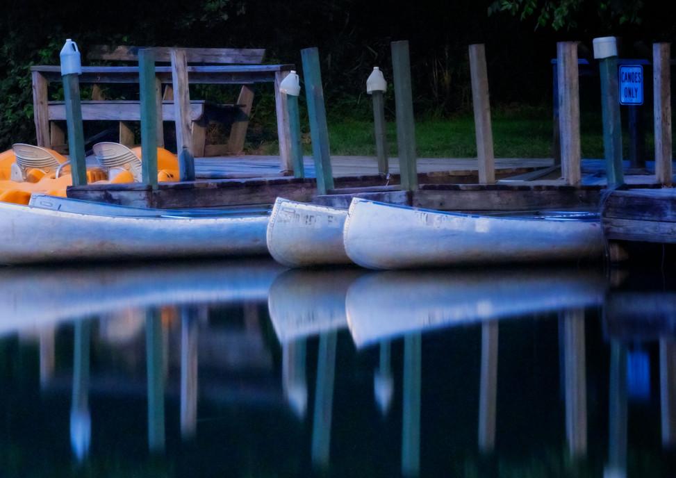 moonlight canoeing