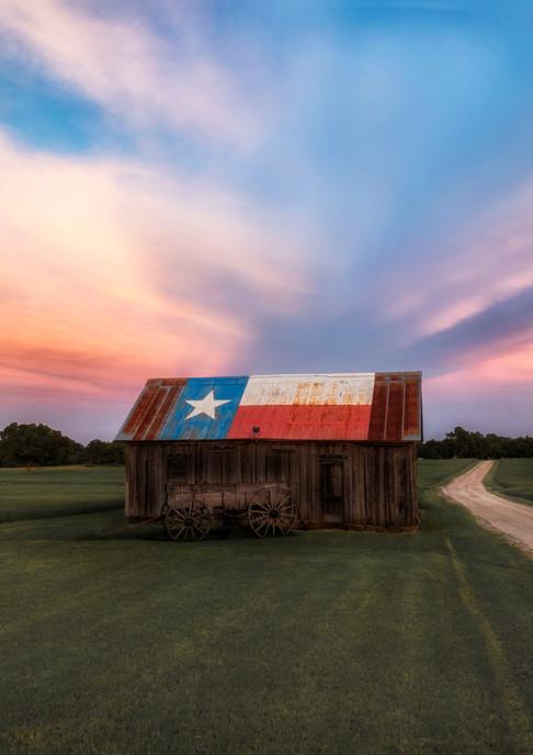 Texas, Sunset Barn