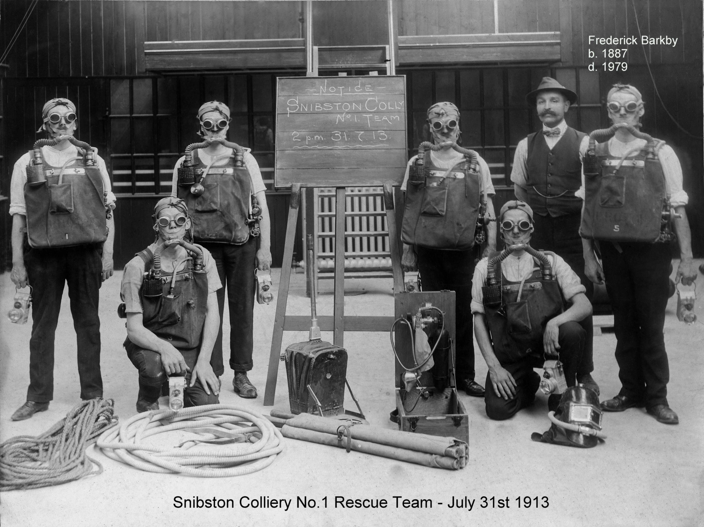 Snibston Colliery Rescue Team 1913