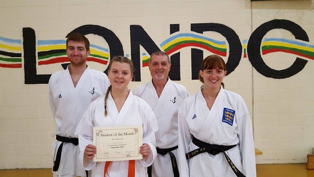 Student of the month September 2015