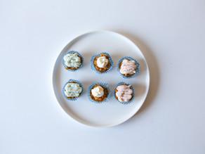 En Pupcake - tre frostings