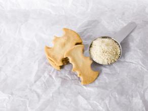 Snabba, glutenfria, fladdermus-kakor med smak av kokos och mandel!