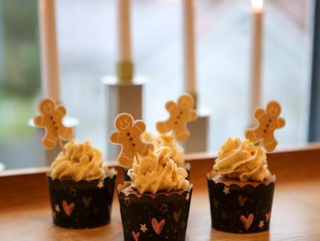 Pepparkakscupcakes