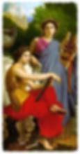 inpirationthe classical Greekmuses Erato and Calliope