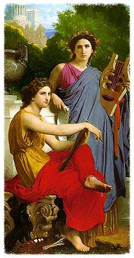 inpirationthe classical Greekmuses Erato and Calliope
