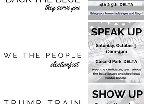 Save the Dates! Fun election events.