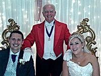Toastmaster Mike Culletion and DJ Andy Richardson