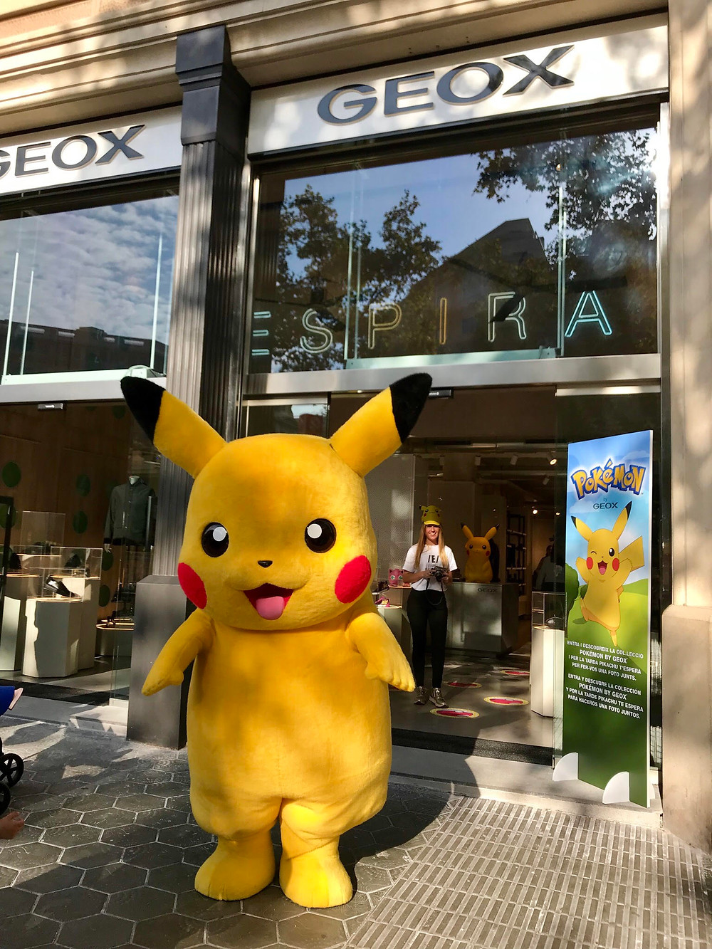 In Event Barcelona we have a real pikachu who makes fun