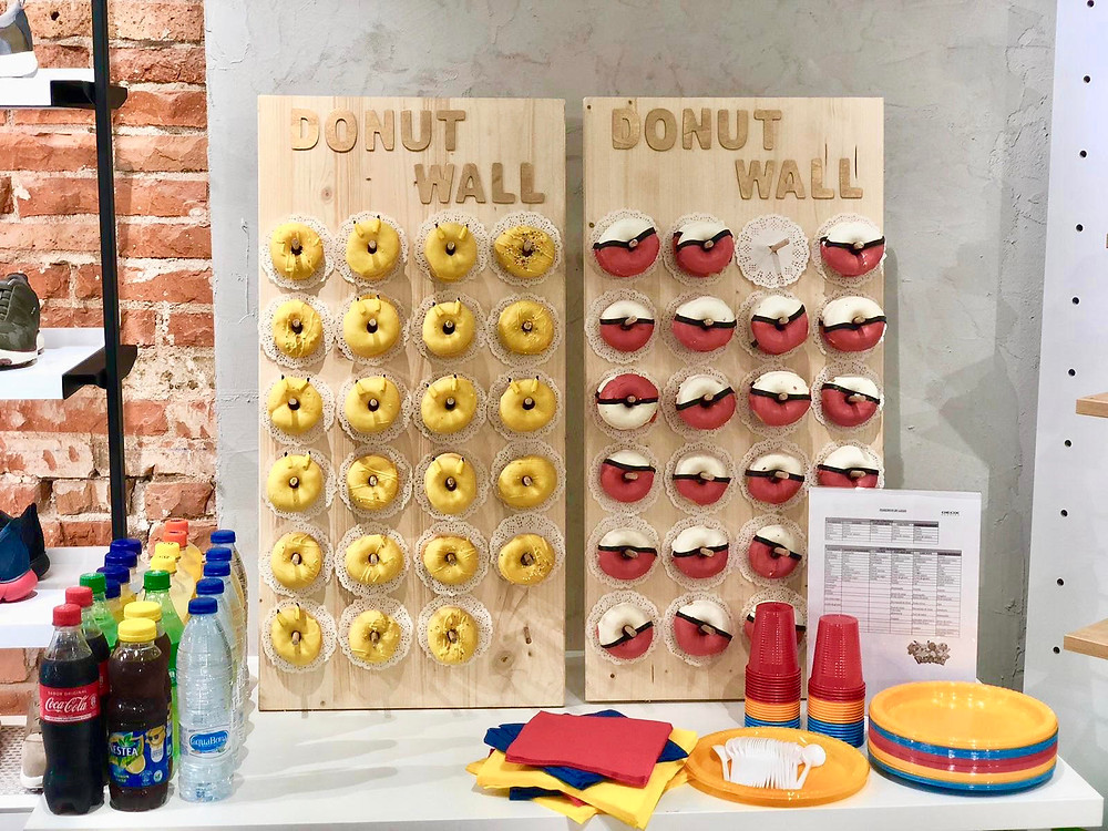 Event Barcelona create a Donut wall to make it fun