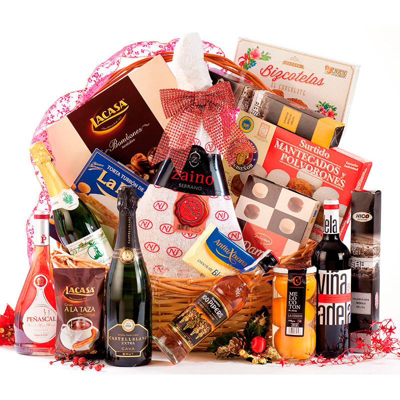 Christmas baskets for company gifts