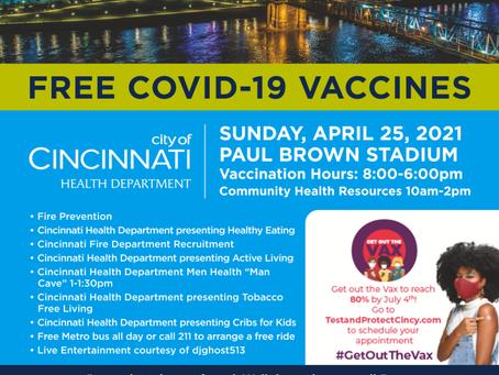 Covid Vaccine Sun April 25th