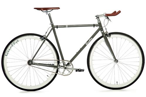 Quella Varsity Edinburgh Single Speed Fixie Bike Grey city bike
