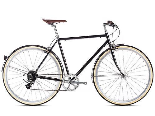 6KU Odyssey 8 speed city bike black men's town bike