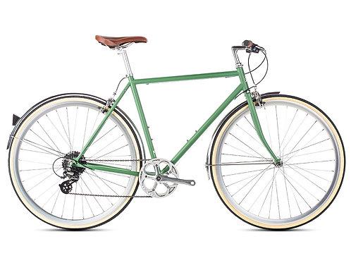 6KU Odyssey 8spd Town Bike Green Men's City Bike