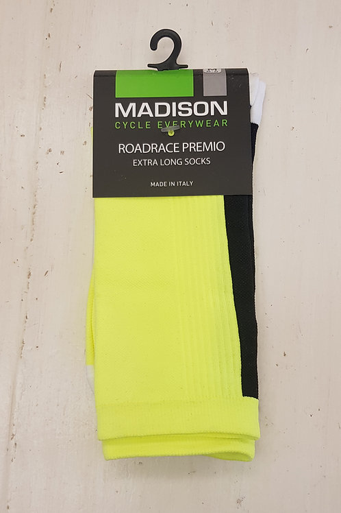 Madison RoadRace Premio Cycling Socks Hi-Viz Yellow