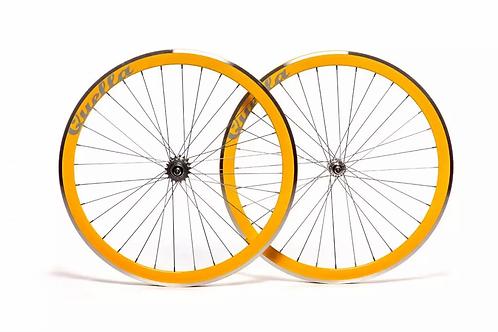 Quella Yellow 40mm Deep-V 700c Wheelset
