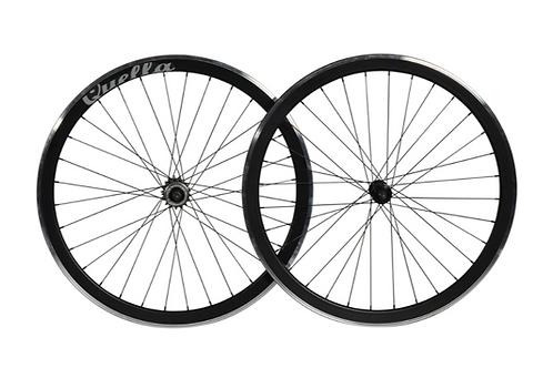 Quella Black 40mm Deep-V Wheelset