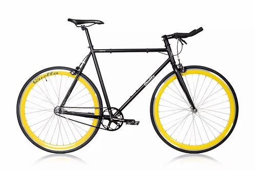 Quella Nero Yellow Single Speed Black and Yellow Fixie bike
