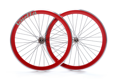 Quella Red 40mm Deep-V Wheelset