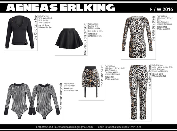 Linesheets and Lookbook