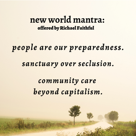 New World Mantra Offered by Richael Faithful