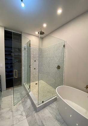 Corner 90 degrees swing shower door