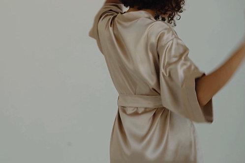 Robe de chambre pure soie