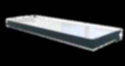 Cadres consoles pour tablettes en verre 8 mm